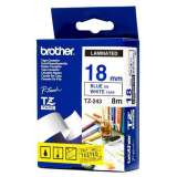 Fita Brother Branco\azul 18mm