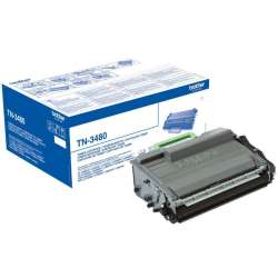 Toner BROTHER Preto TN3480 8000 páginas