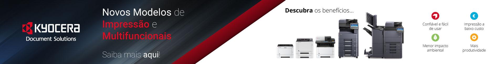 Novos Modelos de Impressão e Multifuncionais - Kyocera
